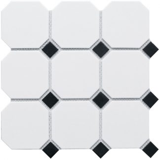 Мозаика-30×30-Octagon-big-White-and-Black-Matt-сетка
