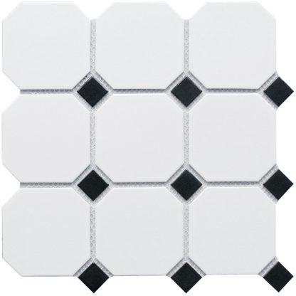 Мозаика-30×30-Octagon-big-White-and-Black-Matt-сетка