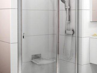 Душевая дверь двухэлементная 1200 х1950  Chrome CSD2-120 сатин+стекло Transparent 0QVGCU00Z1