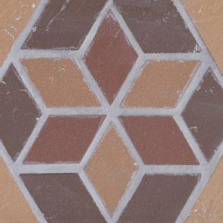 Подступенник-мозаичный-25х15-из-клинкера-на-сетке-Flower