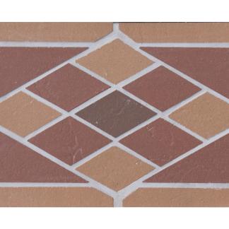 Подступенник мозаичный 25х15  из клинкера на сетке Rhomb