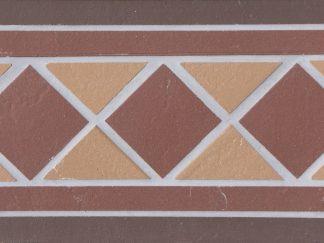 Подступенник мозаичный 25х15  из клинкера на сетке Square