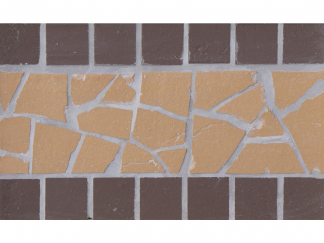 Подступенник  мозаичный 25 х15  из клинкера на сетке  Star