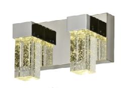Светильник-настенный-двойной-хром-6W-250х100-67133-2B