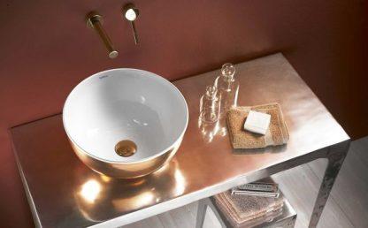 Умывальник-37х18-Lavabo-acero-esmaltad-MOGRO-Rose-gold