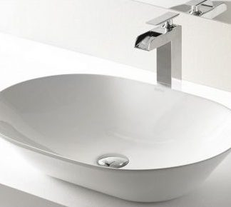 Умывальник-49х40х14.5-Lavabo-OLEA-rectangular-DIAMANTE