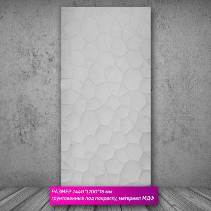 Настенная декоративная панель 3D (МДФ) 244х122х18мм SA-156