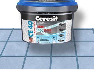 Затирка для швов CE40 Ceresit серо-голубая 2кг