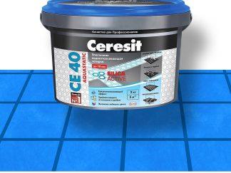 Затирка для швов CE40 Ceresit темно-синяя 2кг