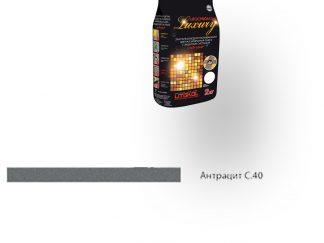 Затирка для швов Litochrom Luxury 1-6 С.40 антрацит 2кг