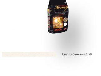 Затирка для швов Litochrom Luxury 1-6 C.50 светло-бежевая 2кг