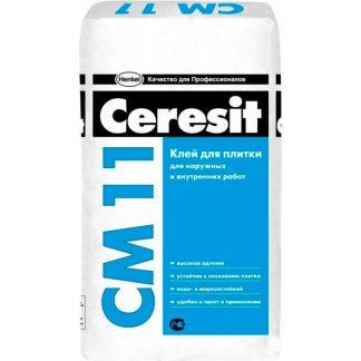 Клей для плитки Ceresit СМ11 PLUS  для внутренних и наружных работ 25кг