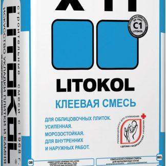 Клей Litokol X11  Усил. для внут. и наруж. с крупноформатными плитами из камня и керамогранита 25кг.