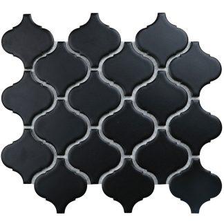 Мозаика 24.6×28 Lattern Black Matt
