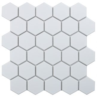Мозаика 27.2×28.2 Hexagon small White Matt сетка