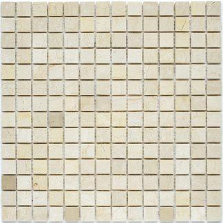 Мозаика 30.5×30.5 Crema Marfil Polish 20х20