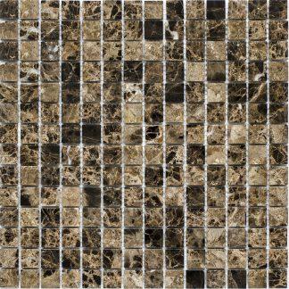 Мозаика 30.5×30.5 Dark Emperador Polish 20х20