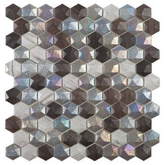 Мозаика 30.7х31.7 Elite Hex Forest Mix (сетка)