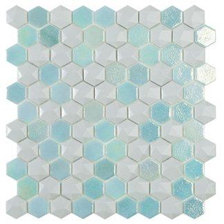 Мозаика 30.7х31.7 Elite Hex Glacier Mix (сетка)