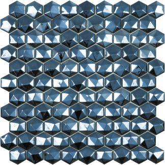 Мозаика 30.7х31.7 Hex Diamond 358D Black сетка