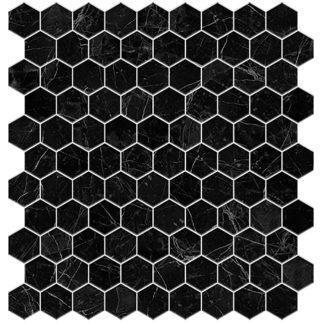 Мозаика 30,7х31.7 Supreme Marquina Hex сетка