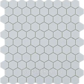 Мозаика 30,7×31,7 Nordic Hex № 909 св.серый сетка
