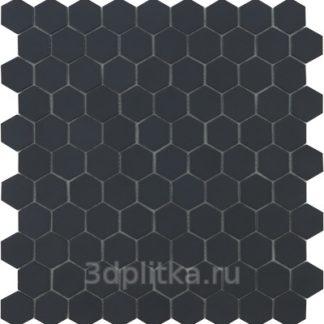 Мозаика 30,7×31,7 Nordic Hex №903 черный (сетка)
